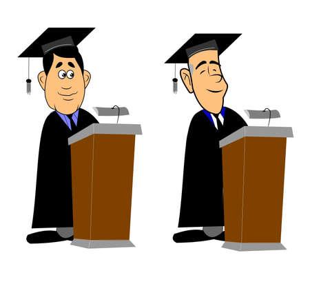 lectern: graduates at lectern giving speech