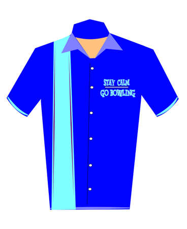 stay calm go bowling shirt concept  Illustration
