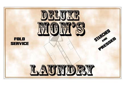 deluxe moms laundry signage  Фото со стока