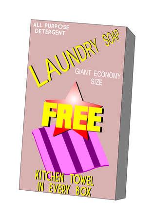 laundry soap box with free towel inside  photo
