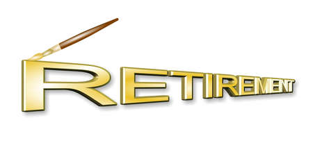 pensionering in 3d concept