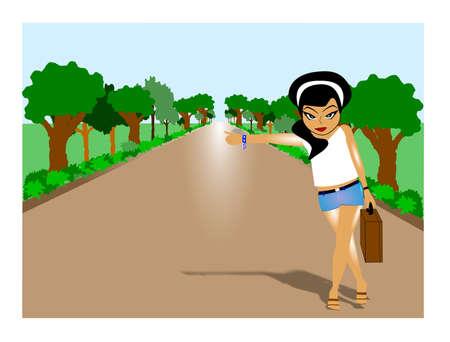 runaway: runaway concepto de ciudad dejando Vectores