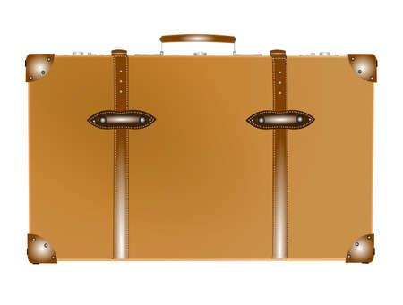 vintage koffer met gegevens