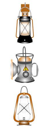 mijnwerker en spelonken lantaarns