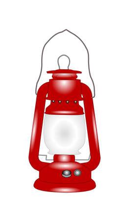 vintage train lantern used by railways  Illustration