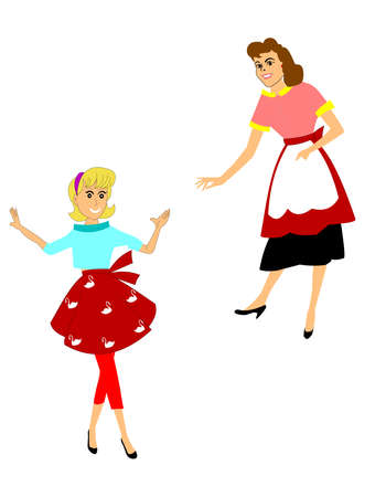 secluded: retro mom s with aprons