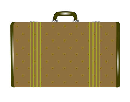 ladys suitcase in floral print design