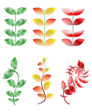 leaves pattern concept Иллюстрация