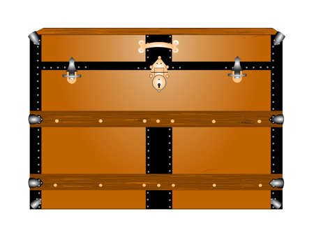 hinges: vintage steamer trunk  Illustration