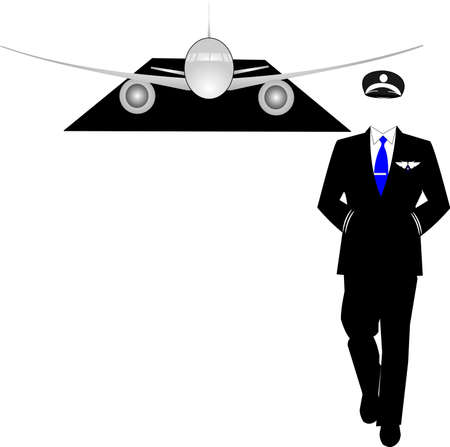 airline pilot: pilot walking away from his plane