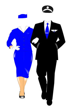 pilot wit stewardess