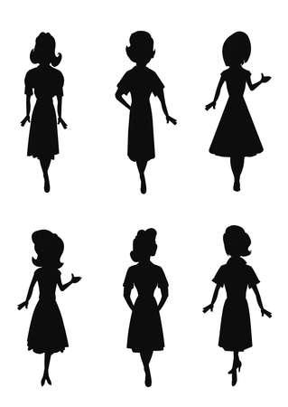 hem: waitress set in silhouette