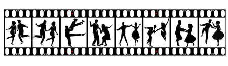 dancers on film  Иллюстрация