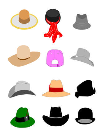 bowler hat: hats set