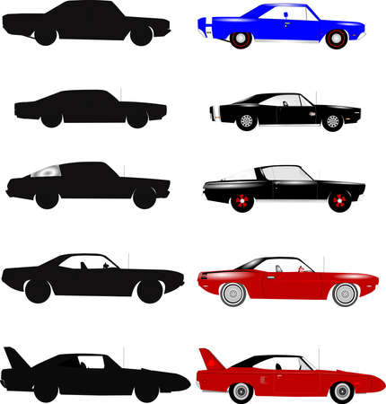 slant: muscle cars