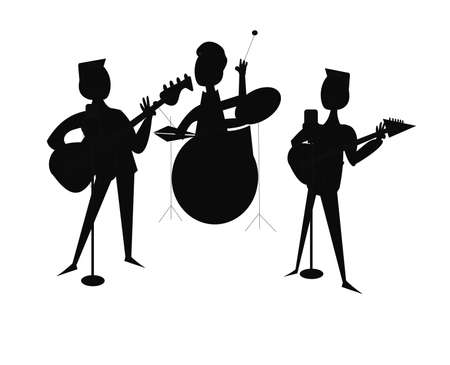 piece: 3 piece band in silhouette