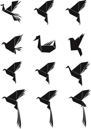 bird set in silhouette 版權商用圖片 - 21652147