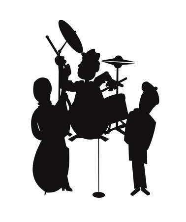 jazz t in silhouette  Stock Vector - 21774483