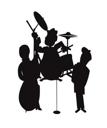 jazz trio in silhouette Stock Vector - 21774483