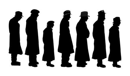 the trench: men in silhouette concept