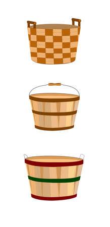 様々 なスタイルのバスケット  イラスト・ベクター素材