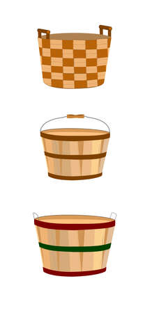 baskets in various styles  Vector