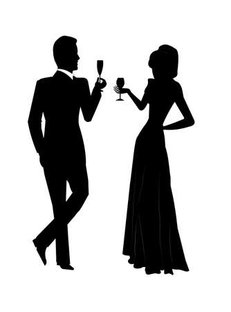 dapper: holiday toast  in silhouette