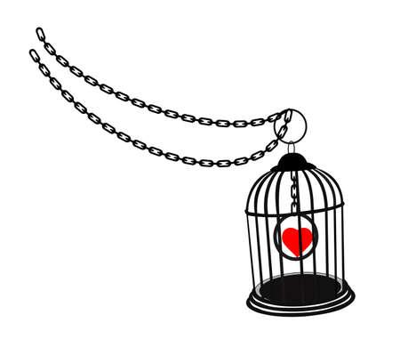 gevangene van de liefde Stock Illustratie
