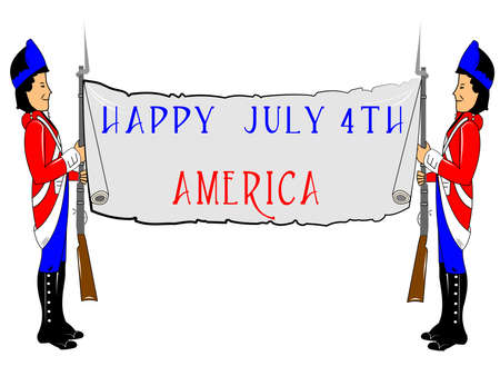 festive occasions: happy 4th of july america Illustration
