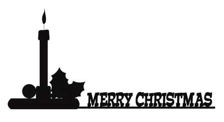 holiday message in silhouette  Vector