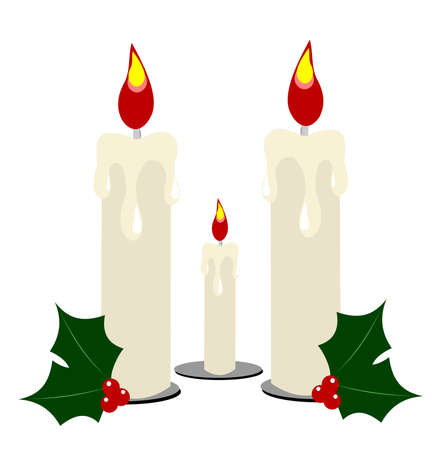 trio of candles for festive decoration  Vector