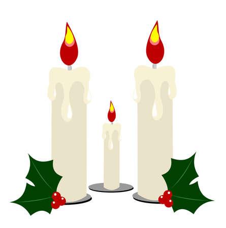 trio: trio of candles for festive decoration