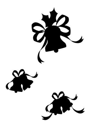 festive: festive bells silhouettes