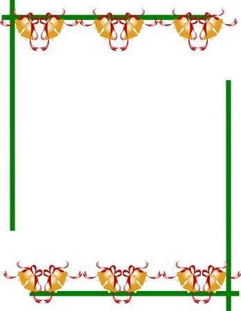 festive: festive border with bells