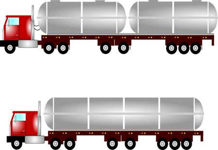tanker trucks  Ilustração