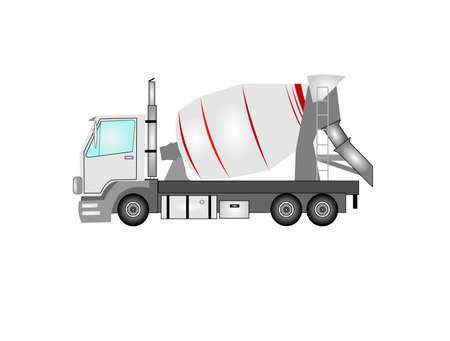 camión de cemento en detalle