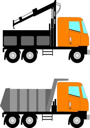 camion grua: camiones de construcción Vectores