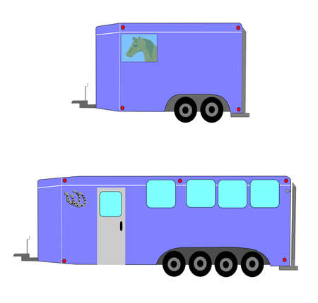horse trailers  Vector