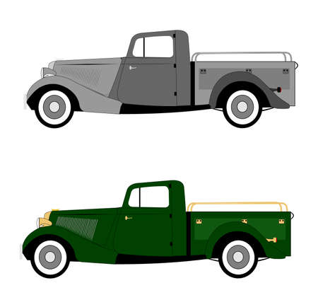 coupe: vintage delivery truck