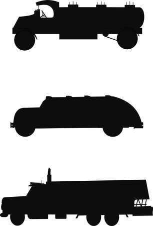 airstream: oil trucks silhouette from 1930s to 1950s