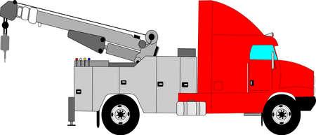 zware sleepwagen Stock Illustratie