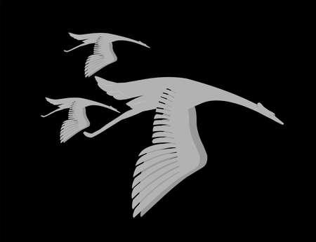 birds in flight abstract