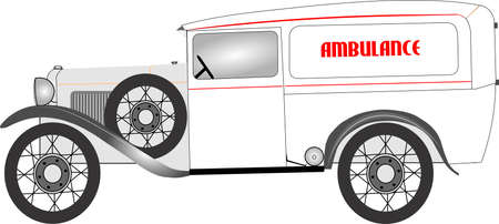 response: vintage ambulance  from 1920 s