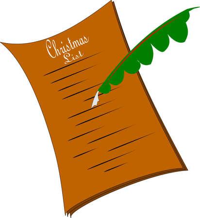 ye olde christmas wish list Banco de Imagens - 23195240