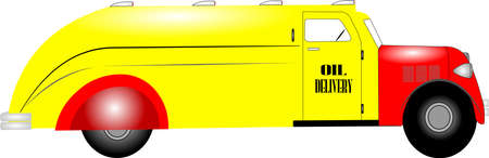 1937 oil delivery truck  Ilustração