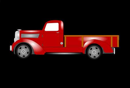 pickup truck: vintage pickup truck 1930 s