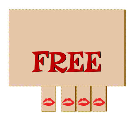 kissing lips: free kiss tear off tabs