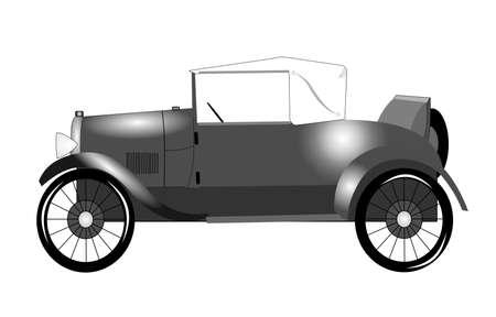 1920s roadster with rumble seat  Illusztráció