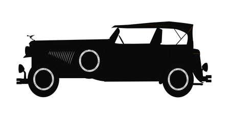 gangsters: 1931 dusenburg silhouette Illustration