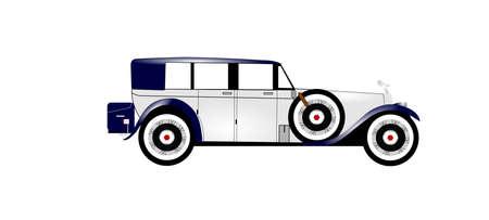 car ornament: 1920 silver ghost  Illustration